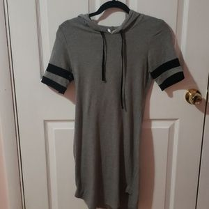 Cute sporty dress with hoody